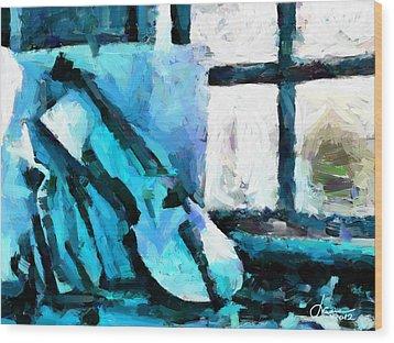 The Violin Tnm Wood Print by Vincent DiNovici