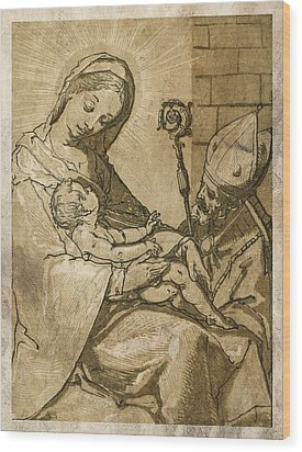 The Virgin And Child Wood Print by Aged Pixel
