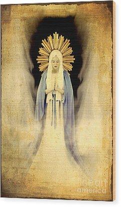 The Virgin Mary Gratia Plena Wood Print by Cinema Photography