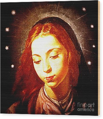 The Virgin Of The Immaculate Conception Wood Print by Patricia Januszkiewicz