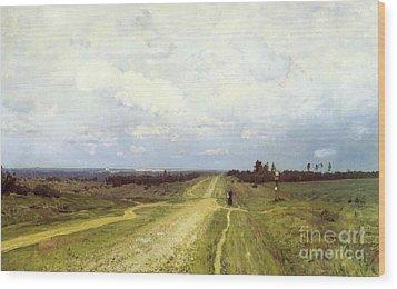The Vladimirka Road Wood Print by Isaak Ilyich Levitan