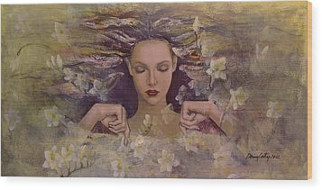 The Voice Of The Thoughts Wood Print by Dorina  Costras
