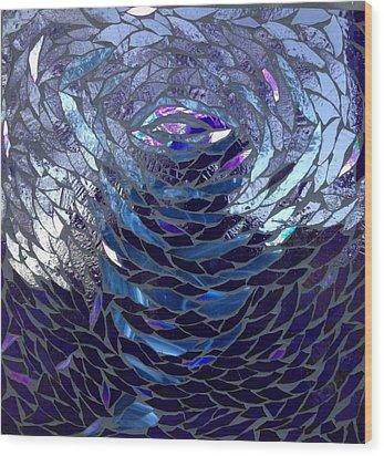 The Vortex Wood Print by Alison Edwards