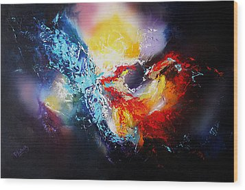 Wood Print featuring the painting The Vortex by Patricia Lintner