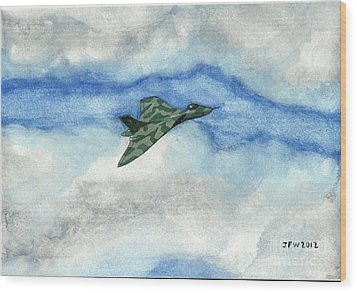 The Vulcan Bomber Wood Print by John Williams