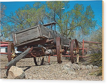 The Wagon Wood Print by Don Durante Jr