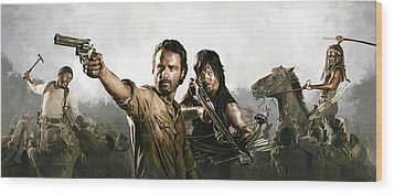 The Walking Dead Artwork 1 Wood Print by Sheraz A
