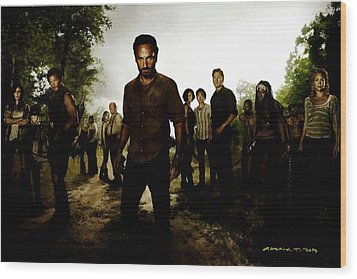 The Walking Dead Wood Print