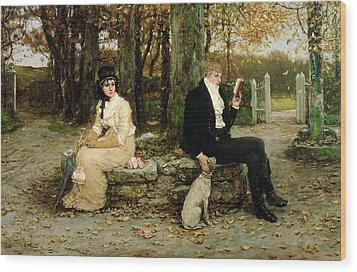 The Waning Honeymoon Wood Print by GH Boughton