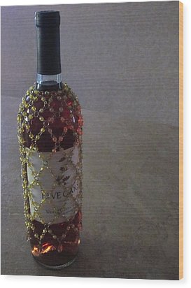 The Warm Glow Of A Chilled Wine Wood Print by Guy Ricketts