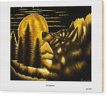 The Watcher Wood Print by Jonas Jeque