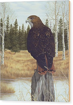 The Watchful Eye Wood Print by Rick Bainbridge