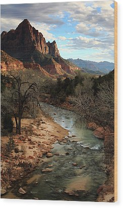 The Watchman At Sunset Wood Print by Eric Foltz