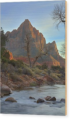 The Watchman In Winter-3 Wood Print by Alan Vance Ley