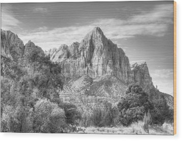 Wood Print featuring the photograph The Watchman by Jeff Cook