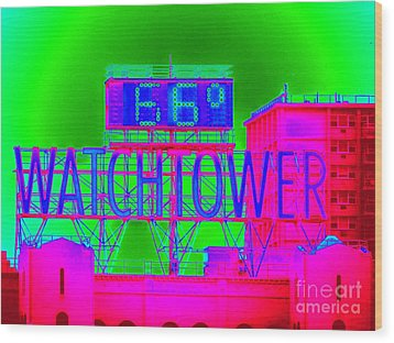 The Watchtower Wood Print by Ed Weidman