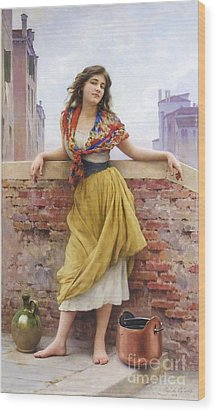 The Water Carrier Wood Print by Pg Reproductions