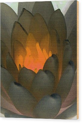 Wood Print featuring the photograph The Water Lilies Collection - Photopower 1043 by Pamela Critchlow