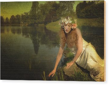 The Water Maiden Wood Print by Dick Wood