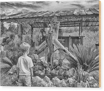 Wood Print featuring the photograph The Watering Hole by Howard Salmon
