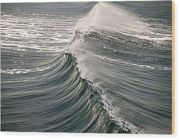 The Wave Wood Print by John Babis