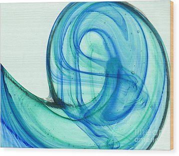 The Wave Wood Print by Ranjini Kandasamy