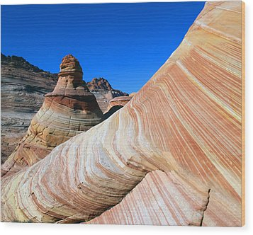 'the Wave' North Coyote Buttes 10 Wood Print by Jeff Brunton