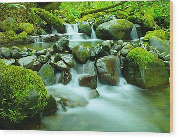 The Way Of Healing Water  Wood Print
