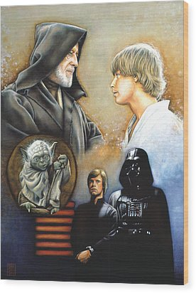 The Way Of The Force Wood Print by Edward Draganski