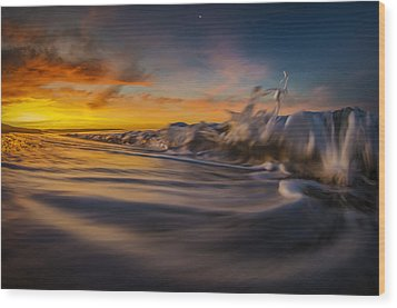 Wood Print featuring the photograph The Way Of The Wave by Sean Foster