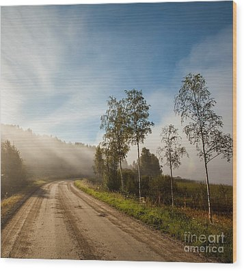 Wood Print featuring the photograph The Way  by Rose-Maries Pictures