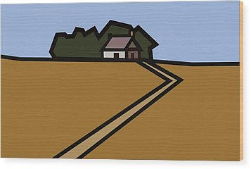 The Way To Sarah's House Wood Print by Kenneth North