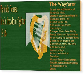 The Wayfarer Wood Print by Conor Murphy