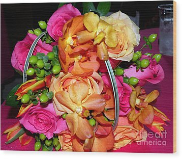 The Wedding Flowers Wood Print by Kathy  White