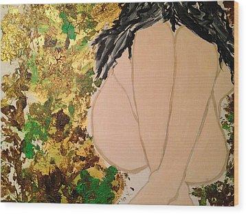 The Weeping Girl Wood Print by Rachna  Beri