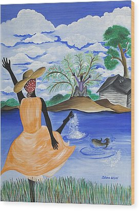 The Welcome River Wood Print by Patricia Sabree