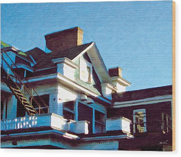Wood Print featuring the photograph The Welland Club 5 by The Art of Marsha Charlebois