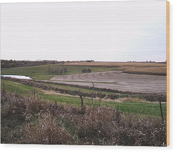 Wood Print featuring the photograph The West Fields by J L Zarek