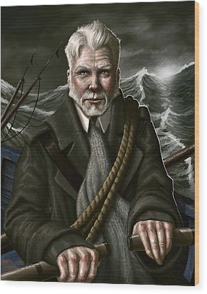The Whaler Wood Print by Mark Zelmer