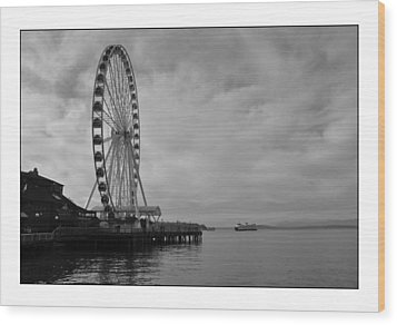 The Wheel And The Ferry Wood Print by Kirt Tisdale