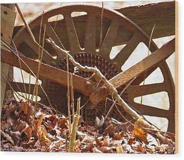 Wood Print featuring the photograph The Wheel Of Planting by Nick Kirby