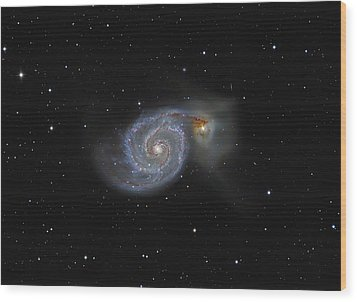The Whirlpool Galaxy Wood Print by Brian Peterson