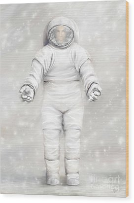 The White Astronaut Wood Print by Tharsis Artworks