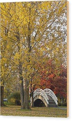The White Bridge Wood Print