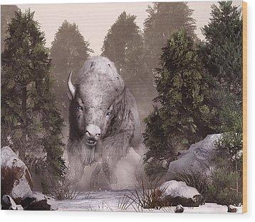 The White Buffalo Wood Print