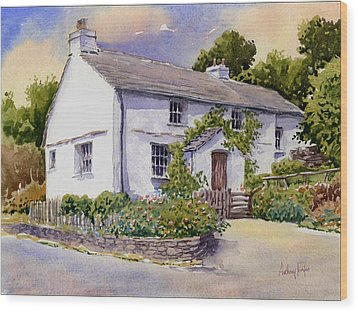 The White Cottage Wood Print by Anthony Forster