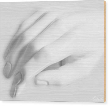 The White Hand Wood Print by Tony Rubino