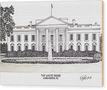 The White House Wood Print by Frederic Kohli