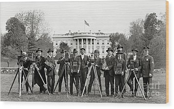 The White House Photographers Wood Print by Jon Neidert