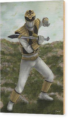 The White Ranger Wood Print by Michael Tiscareno